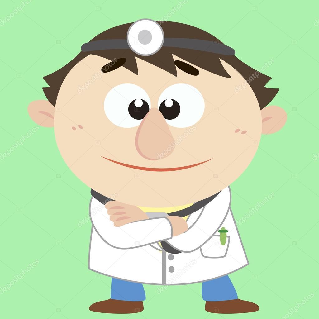 Dottore cartone animato illustrazione vettoriale