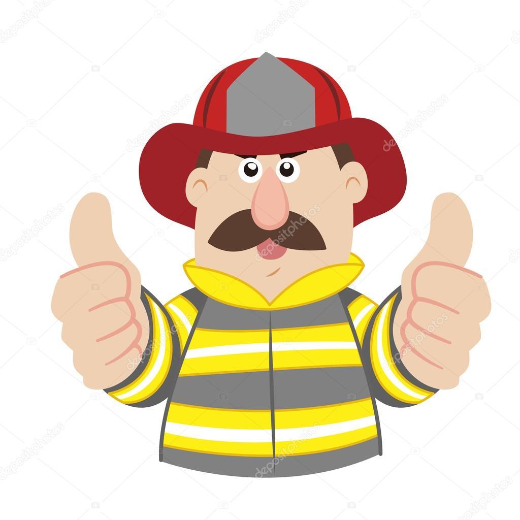Cartone animato eroe pompiere scaricare vettori premium