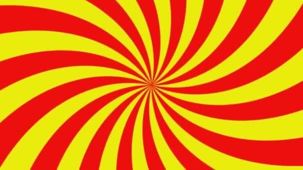 Piros és sárga csíkokkal vortex forgó