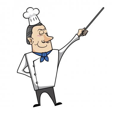 Cartoon Chef with Pointer
