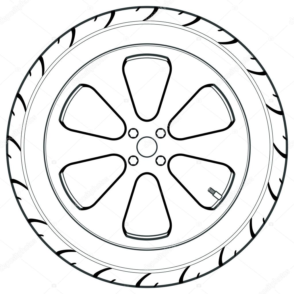 Stock Illustration Car Or Truck Tire Symbol on tire date