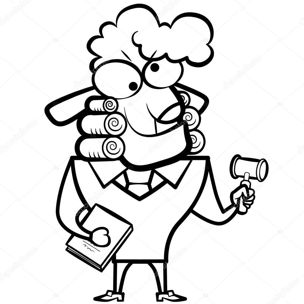 Imágenes Un Juez Para Dibujar Juez De Ovejas Con Un Mazo Y Ley
