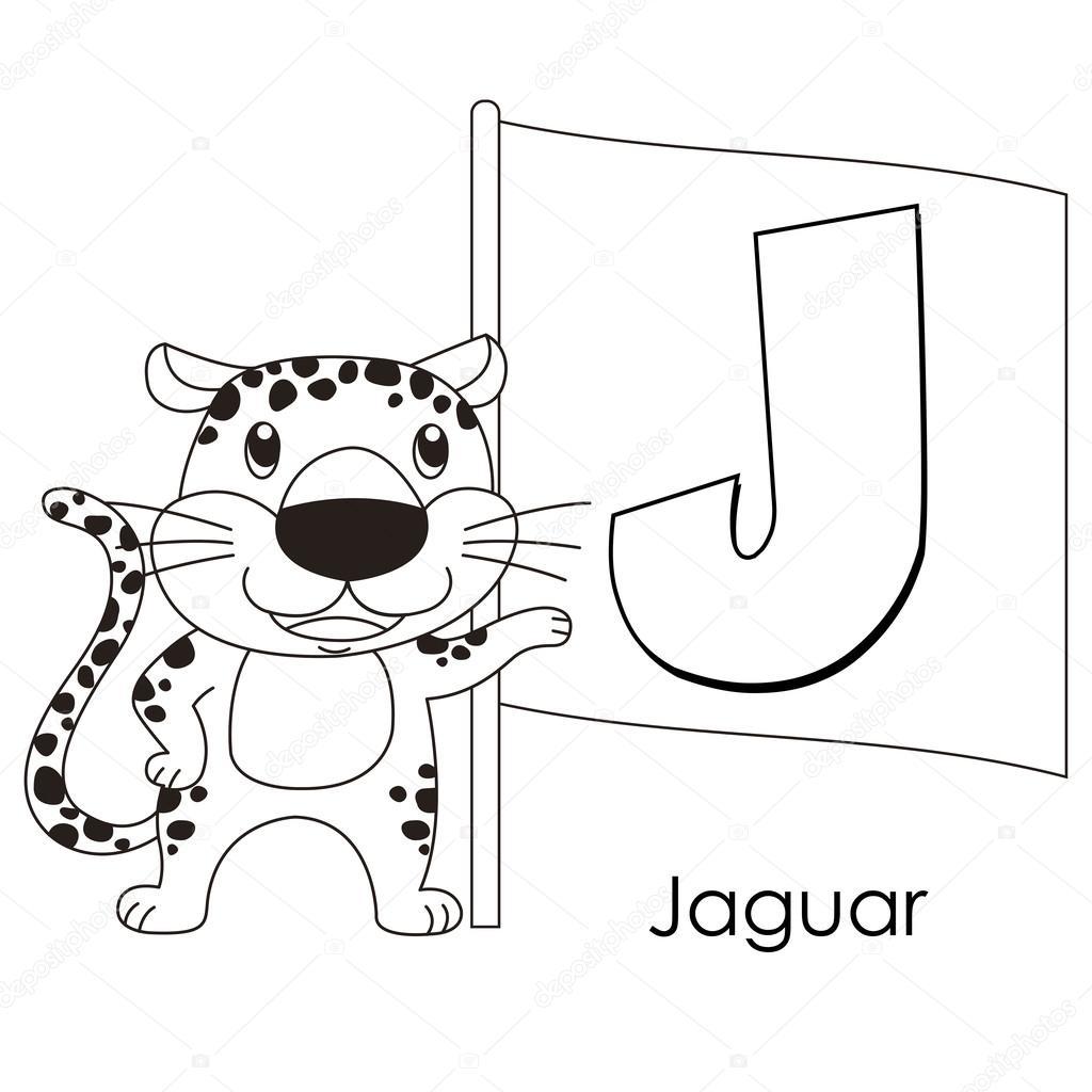 alfabeto animal j — Archivo Imágenes Vectoriales © kchungtw #26404311