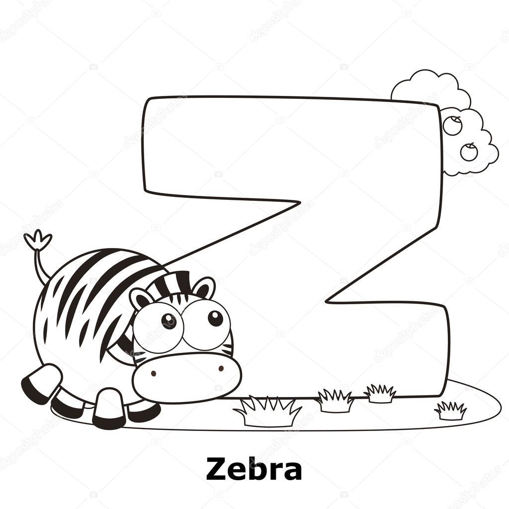Colorare Alfabeto Per Bambini Z Vettoriali Stock Kchungtw 26768833