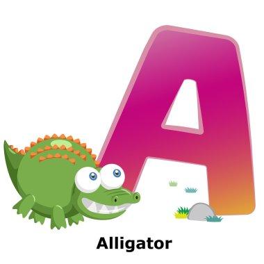 Animal alphabet A