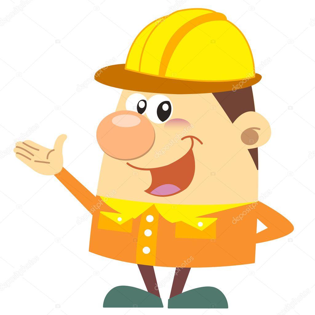 bouw beroepen grappige volkeren — Stockvector © …