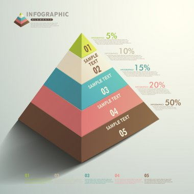 vector abstract 3d Pyramid type infographics