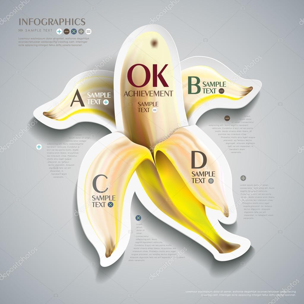 abstract banana infographics design
