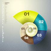 Fotografia astratto 3d spirale infografica