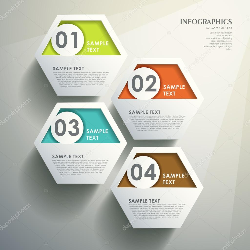 Abstract 3d hexagonal infographics