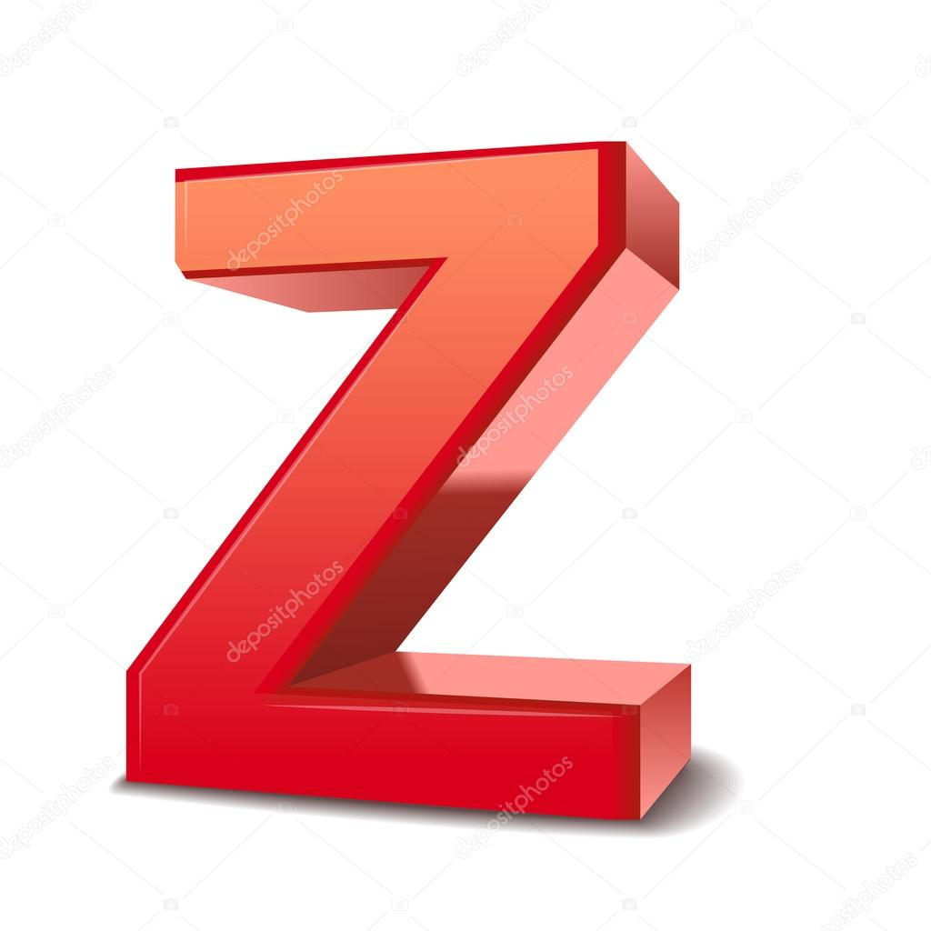 3d letter z � stock vector 169 kchungtw 37559643