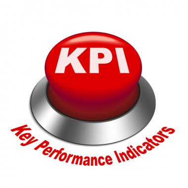 3d illustration of KPI ( Key Performance Indicator ) button