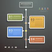 abstraktní vývojový diagram infografiky