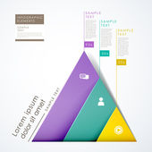 Fotografie 3d paper abstract pyramid infographics