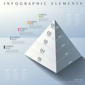 Fotografie 3d abstract pyramid infographics
