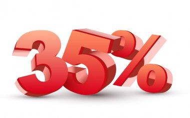 Thirty-five percent symbol