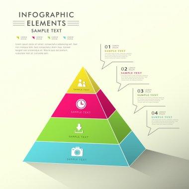 abstract pyramid chart infographics