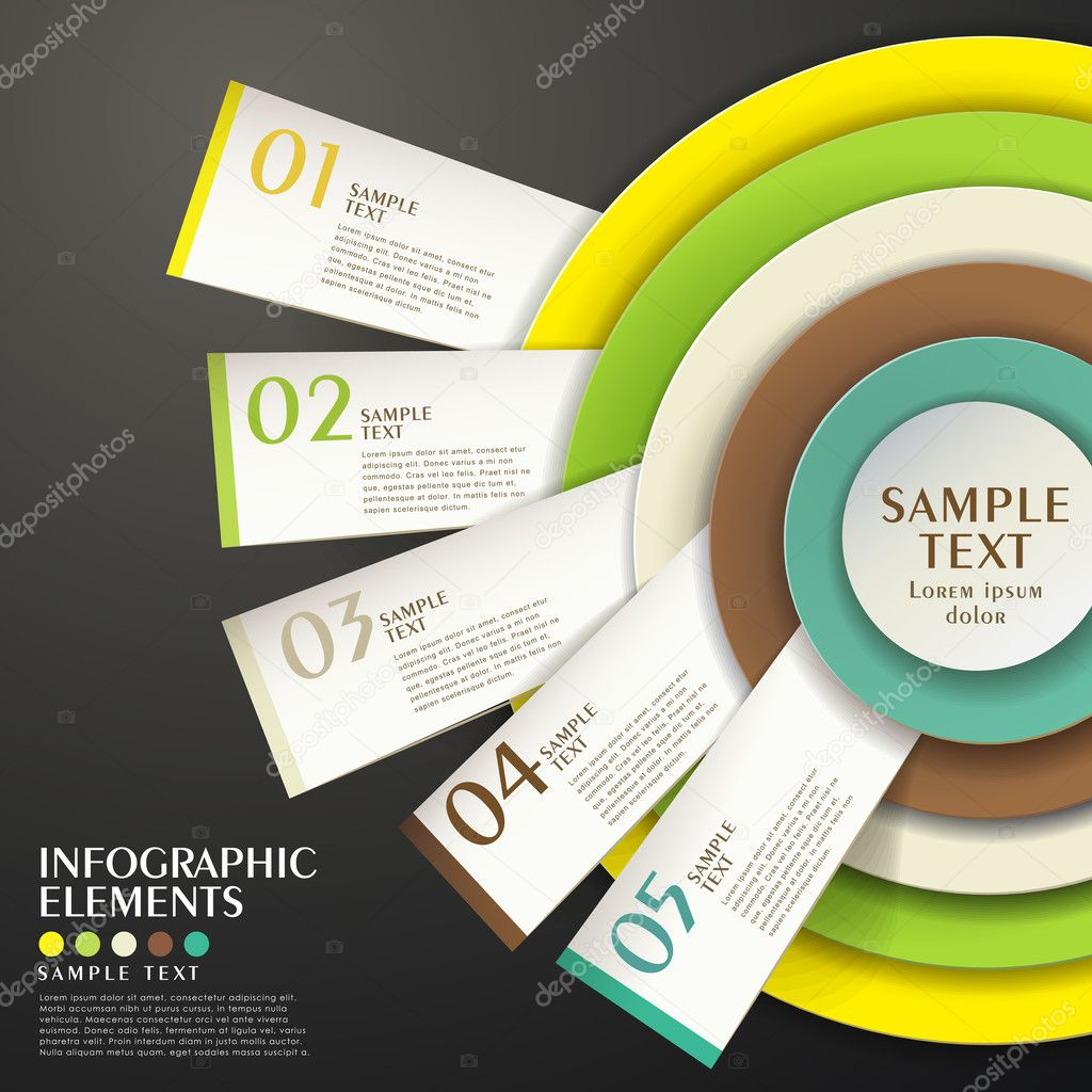 Abstract concentric chart infographics stock vector kchungtw 3d vector abstract concentric and tag infographic elements vector by kchungtw pooptronica Choice Image