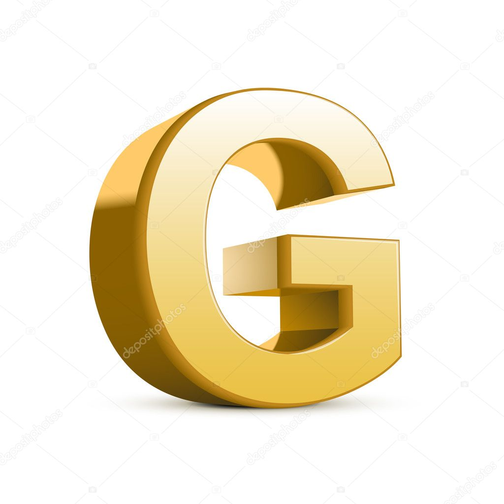 This is an image of Gargantuan 3d Letter G Drawing