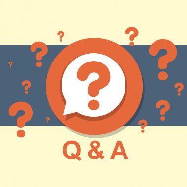flat design concept of Q&A