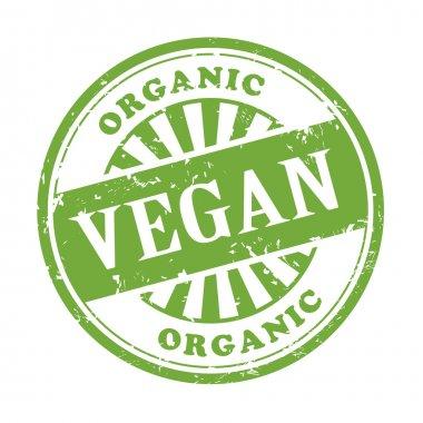 vegan grunge rubber stamp