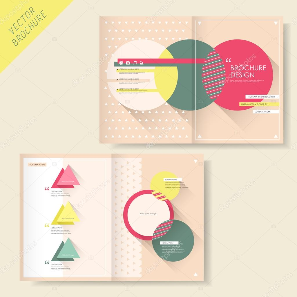 Brochure design with triangle and circle