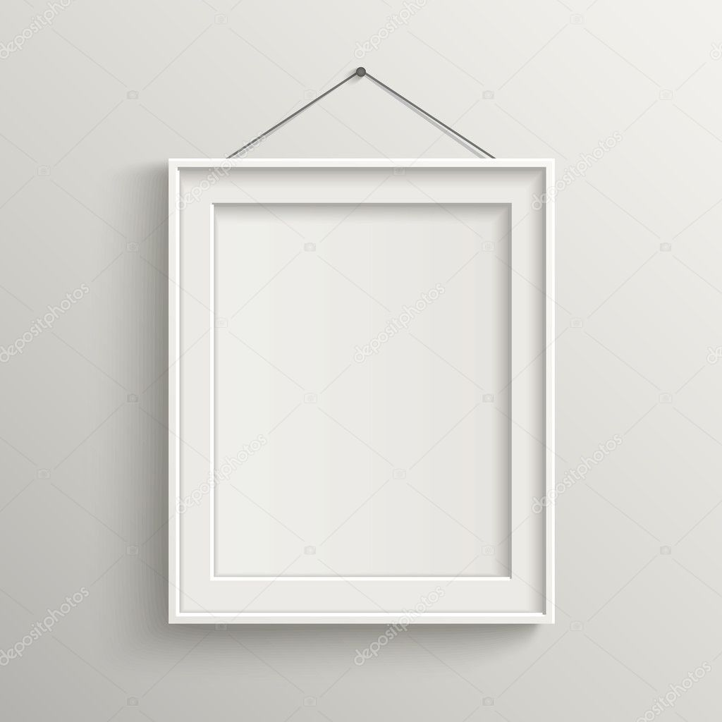 954f5a249b0 blank frame on white wall with shadow — Stock Vector © kchungtw ...