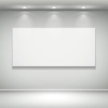 blank illuminated frame on the wall