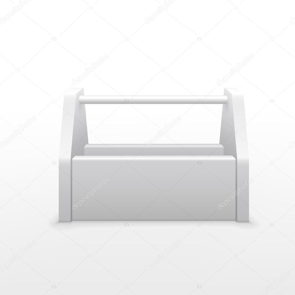 vector 3d blank tool box