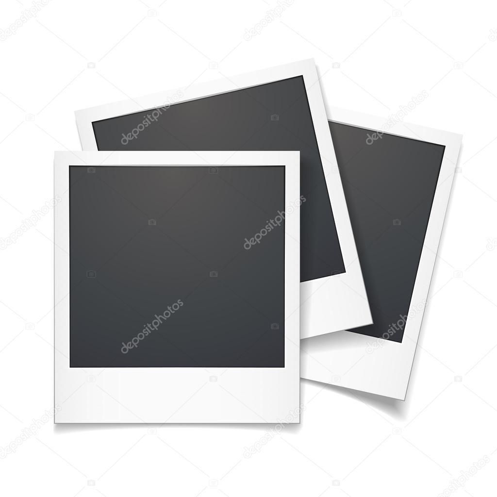 3D Vektor Polaroid-Foto-Rahmen — Stockvektor © kchungtw #48307241