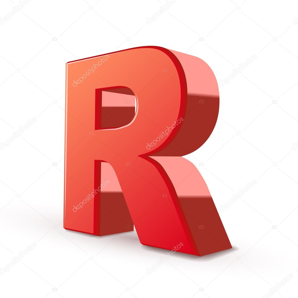3d red letter r stock vector kchungtw 48447321 3d red letter r isolated white background vector by kchungtw altavistaventures Image collections