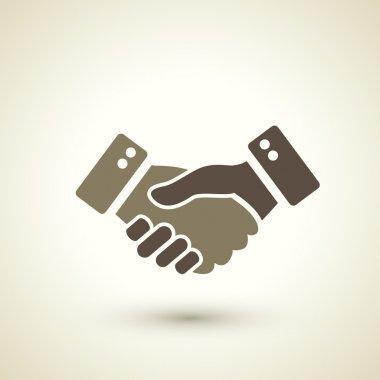 retro style handshake icon