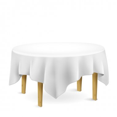 table with tablecloth