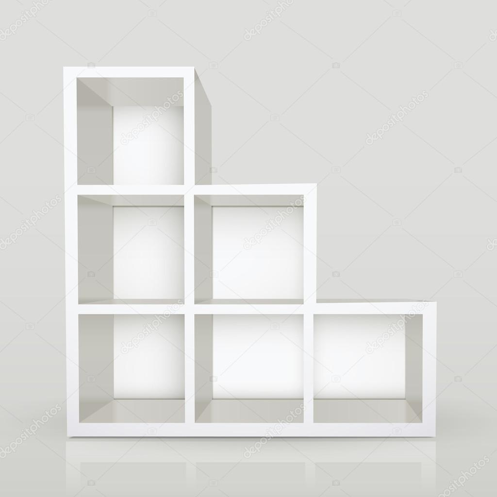 lege moderne boekenkast — Stockvector © kchungtw #50842739