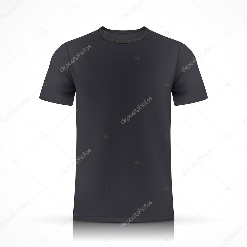 black T-shirt template — Stock Vector © kchungtw #50842819