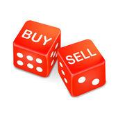 nakupovat a prodávat slova na dvě červené kostky
