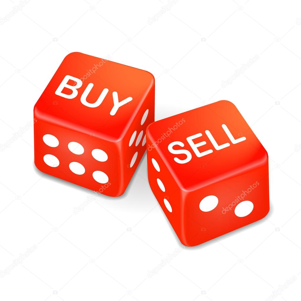 buy and sell words on two red dice