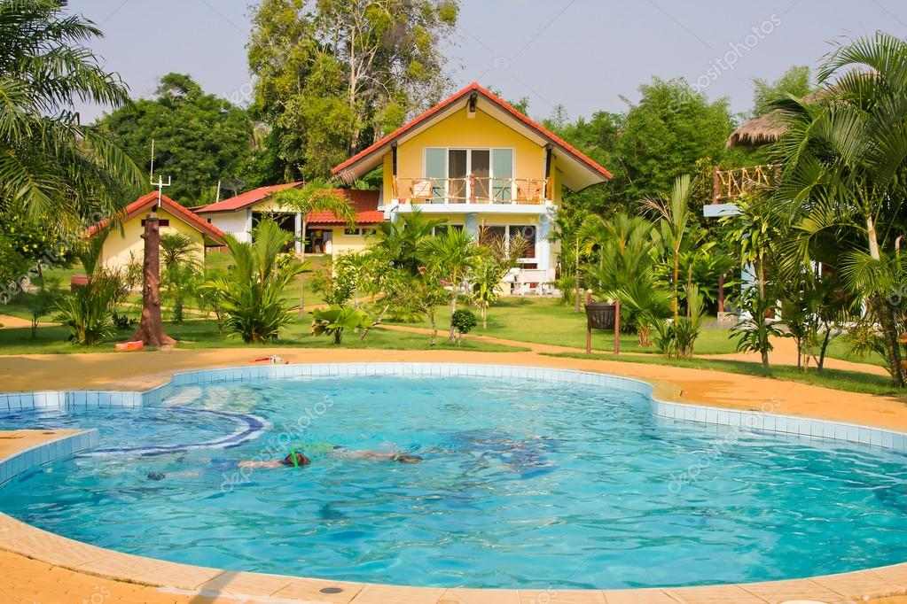 Tropical beach house on the island Koh Mak