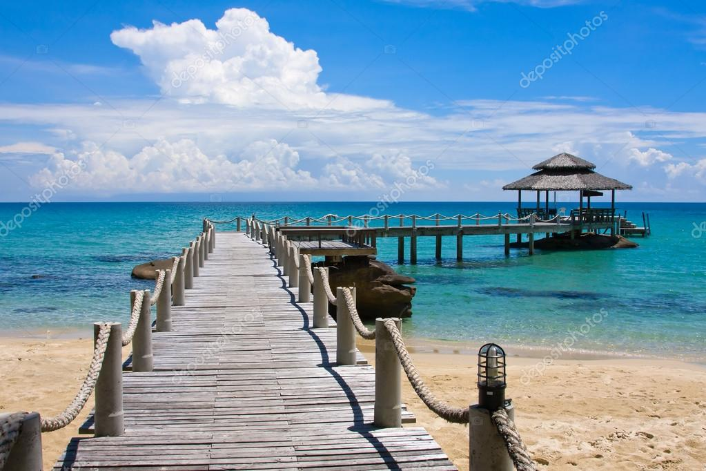 Wooden pier, Thailand.