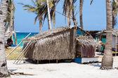 Fotografia povera zona vicino al mare in isola malapascua, Filippine