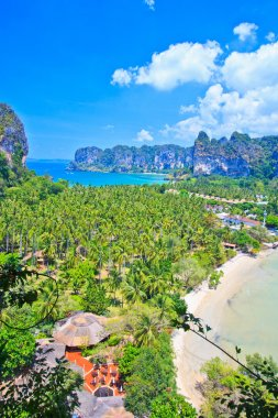 view on railay bay in thailand