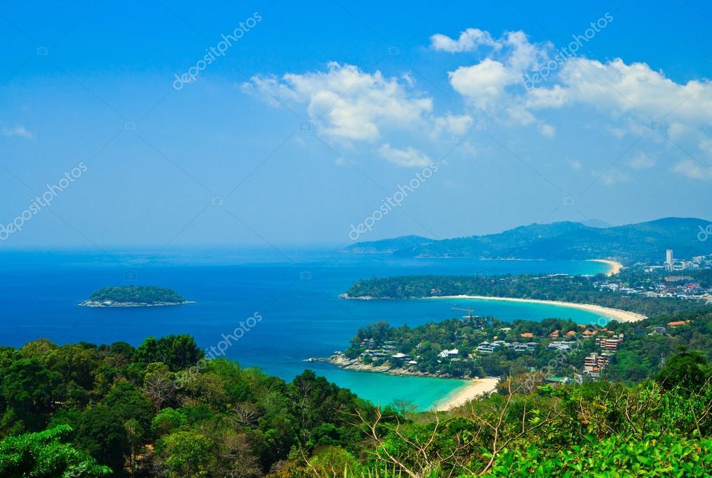 Viewpoint phuket bay city thailand