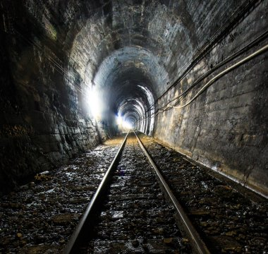 Light at the end of railroad tunnel