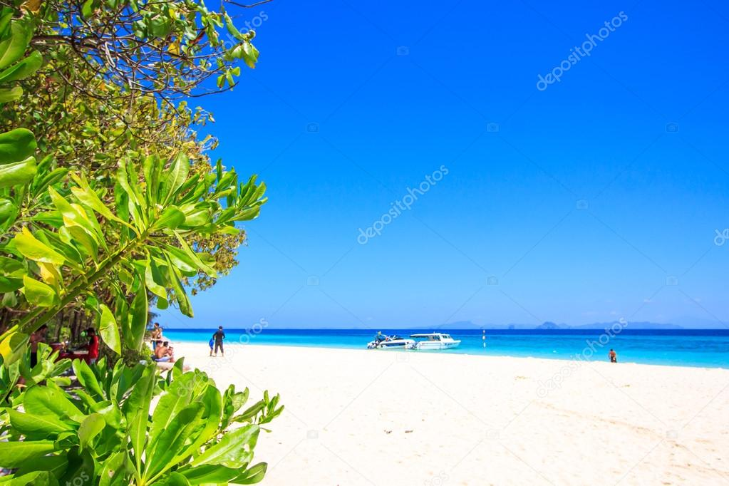Beach and tropical sea sand