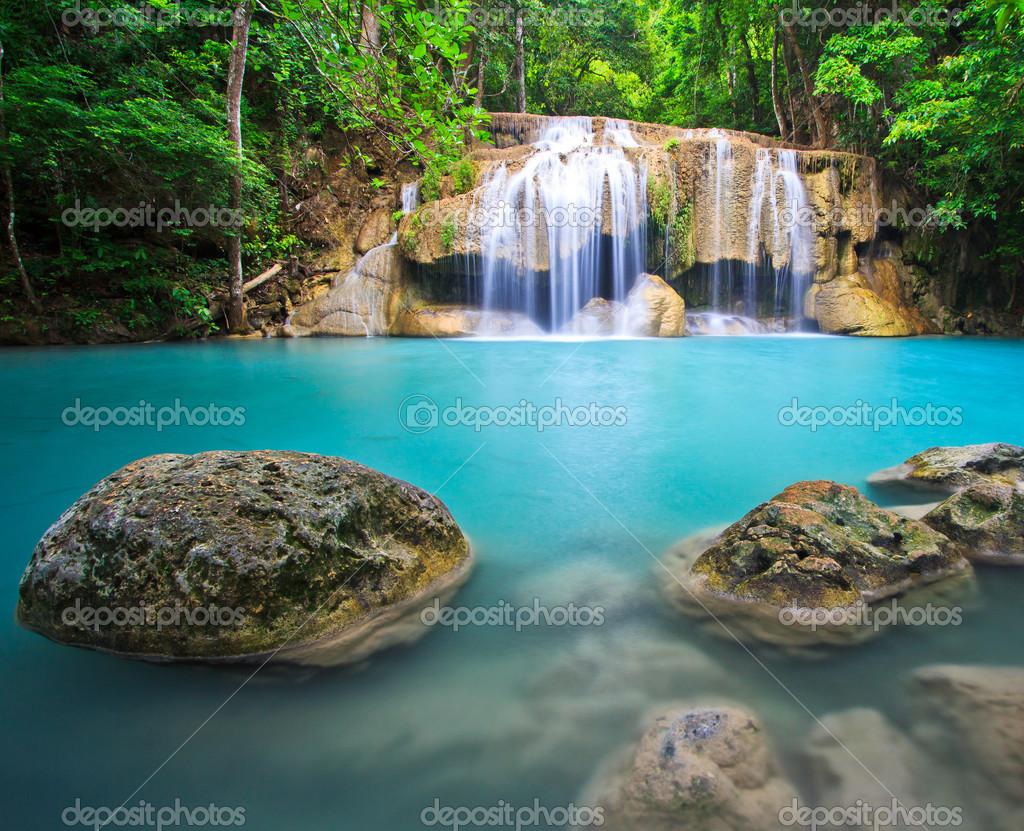 Beatifull blue waterfall