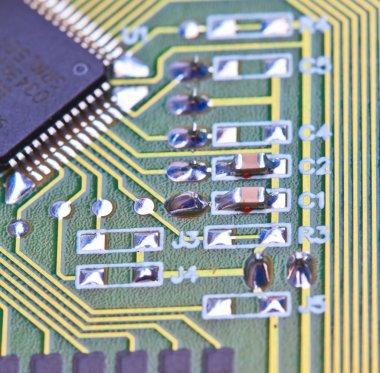 Electronic circuit board.
