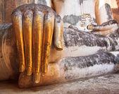 Photo Buddha old hand