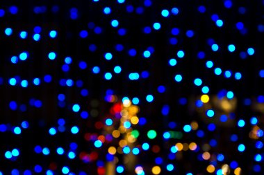 Blurred Christmas lights at night