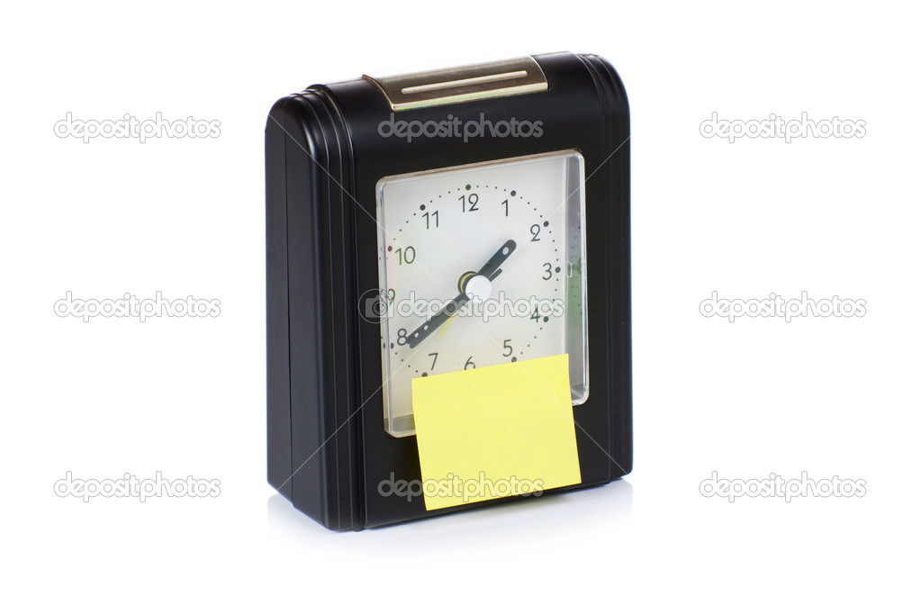 Modern Alarm Clock With Sticky Paper Stock Photo C Garry Images