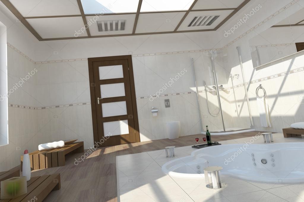 Badkamer Met Whirlpool : Moderne badkamer met whirlpool u2014 stockfoto © weissdesign #22485757